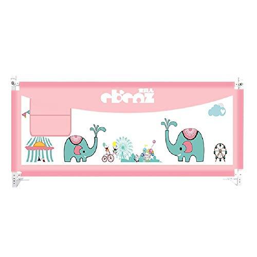 XUE Rosa Bettgitter für Mädchen - Extra hohe Baby-Langschiene für Queen- und King-Size-Bett, Schutzzaun für Sicherheitskinder,200cm/78.74inchs - 78-zoll-gardinenstange