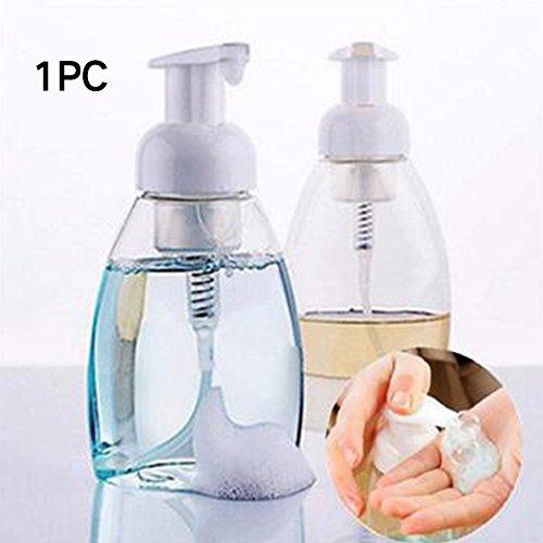HINMAY Shampoo Schaumspender, Kunststoff, Leere Pumpe Shampoo Flasche Spender Lotion Flüssigflasche Behälter, leer Schaum Hand Seife Flüssigkeit Behälter für Küche und Bad, Wie abgebildet, 300 ml (Leer-schaum-pumpe Flasche)