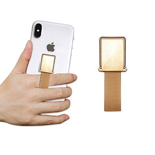 ProtectPax Smartphone Fingerhalter mit Halter Griff Handyhalter Handy Halterung Einhandbedienung für iPhone Samsung Sony LG Huawei uvm. - Lichter Finger-ring