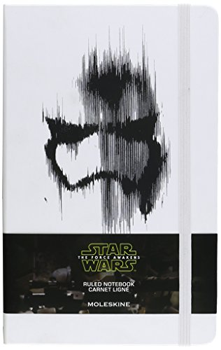 Moleskine Taccuino Notebook Star Wars VII Limited Edition Villain Trooper, Large, Copertina Rigida, a Righe, Bianco