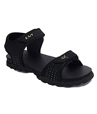 Deco Men's Black Sandals & Floaters - 10 UK