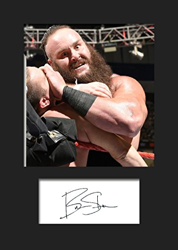 Braun strowman WWE # 2Signiert Foto A5Print