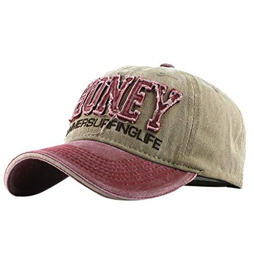 Syeytx Unisex Cotton Honey Lässige Bestickte Denim Brief Hut Fashion Baseball Cap Topee -