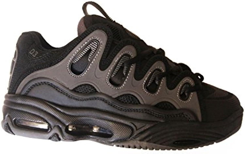 Osiris D3 2001 Black Grey Dave Mayhew Skate Skateboard Shoes