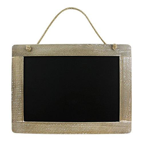 com-four® Memotafel im Landhausstil, Küchen- und Notiztafel aus Holz mit Kordel zum Aufhängen, 29 x 21,9 cm (01 Stück - 29 x 21.9 cm)