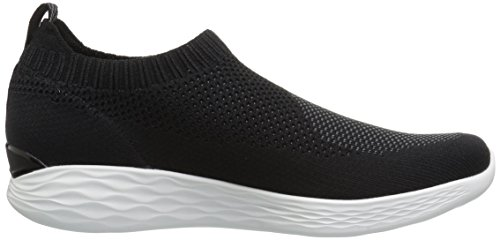 Skechers You-Pure, Sneaker Infilare Donna Nero (Black/white)