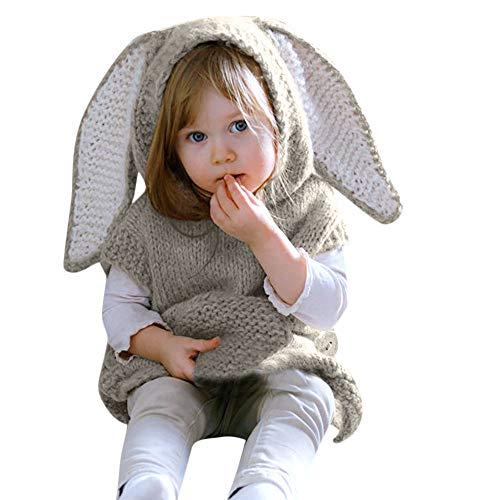 Oyedens Lange Pullover Mit Kapuze Taschenjacke Baby Häschenohren -
