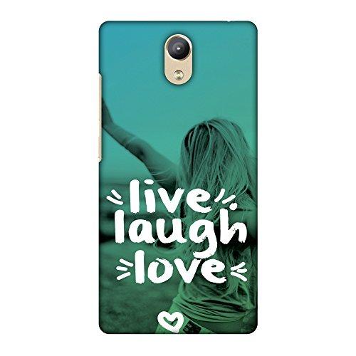 Amzer Handarbeit Designer Printed Slim Snap On Hard Case mit Screen Care Kit für Lenovo phab2–Live Laugh Love