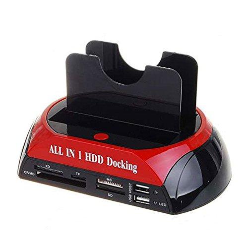 SODIAL TCC-S862 USB 2.0 Tiene SATA IDE Doble HDD Disco