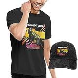 Photo de Baostic Homme T- T-Shirt Polos et Chemises, Men's Basement Jaxx Crazy Itch Radio T-Shirts Washed Denim Baseball Dad Hats Black par Baostic