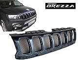 #8: Saiga Parts Saiga Car Jeep Compass Style PU Coated Paint Finish Front Grill for Suzuki Brezza
