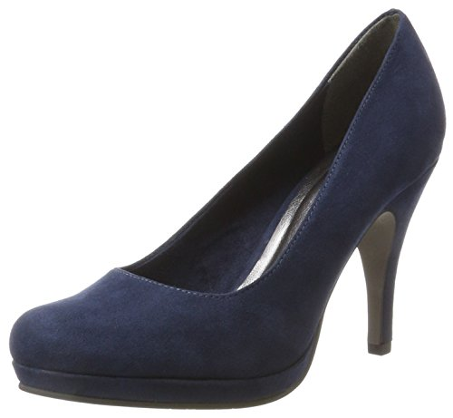 Tamaris Damen 22407 Pumps, Blau (Navy), 38 EU