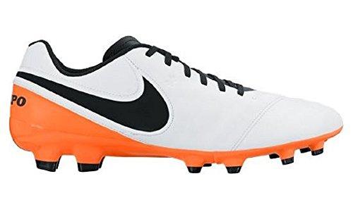 Nike Tiempo Genio II Leather FG, Scarpe da Calcio Uomo Bianco (Blanco (White / Black-Total Orange))