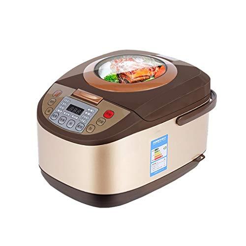 Arroceras Olla de presión eléctrica inteligente de uso múltiple de 5 litros (2-6 personas), olla arrocera multifunción, olla de presión, olla de cocción lenta, vaporera, pastelera y calienta platos, a