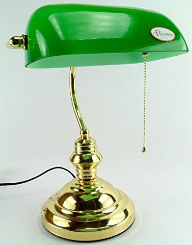 Lampada ministeriale con accensione a catenella,lampada da tavolo stile america da studio...
