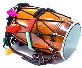 SG Musical Mango wood Standard Punjabi Bhangra Dhol Free Padded Carry Bag