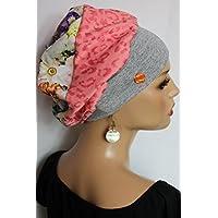 Beanie Mütze Ballonmütze Leo Blüten Bunt little things in life Chemo Cap Hat Chemomütze Mütze bei Krebs Kopfbedeckung Turban