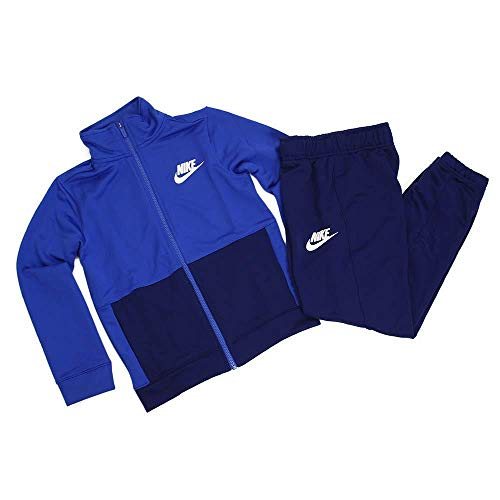Nike Jungen B NSW Poly Tracksuit, Game royal/Blue Void/White, XS