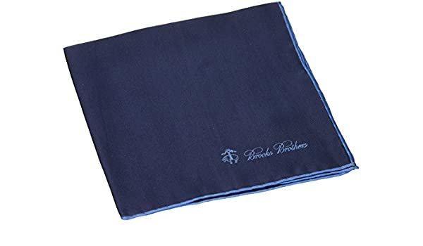Uomo Brooks Brothers 100003596 Fazzoletto One Size Light//Pastel Blue Taglia produttore:0 Blu