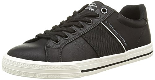 Pepe Jeans Coast, Baskets Basses Homme, Noir (999Black), 42 EU