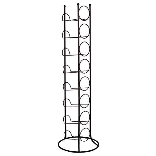 RM Design Weinregal Metall - Flaschenhalter für Weinflasche, Wasserflasche - schwarz - für 8 Flaschen