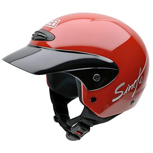 NZI 050139G058 Single II Jr Red Motorcycle Helmet, Red, Size 52-53 (L)