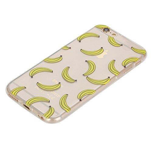 Coque [ iPhone 6 Plus,iPhone 6S Plus ],Etsue TPU Gel Doux Coque Housse étui pour iPhone 6 Plus,iPhone 6S Plus,Etui de Protection Cas Ultra-Mince Transparent Bumper Cover pour iPhone 6 Plus,iPhone 6S P Banane