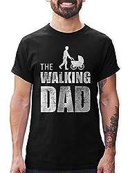 Shirtracer The Walking Dad Herren T-Shirt und Männer Tshirt (XXL, Schwarz)