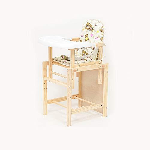 YQQ Siège en Bois Massif Chaise Multifonction pour Enfants Chaise Bébé Chaises Pliantes Table De Bébé Petit Bureau