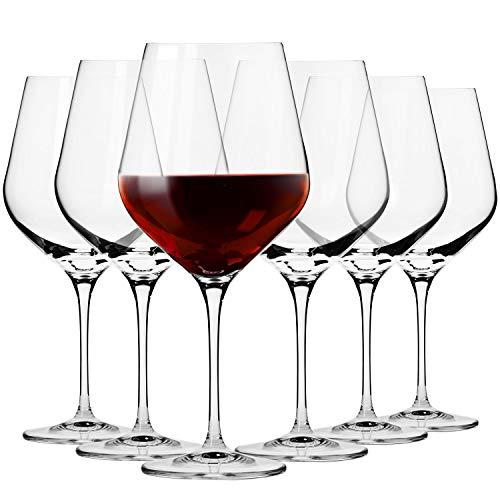 Krosno bicchieri calice vino rosso burgund | set di 6 | 860 ml | collezione splendor | ideale per la casa, ristorante feste e ricevimenti | adatto alla lavastoviglie e al forno a microonde