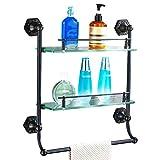 Badezimmerregal Kompaktes Regal Rechteckiges Lagerregal Auf Der Toilette Badezimmer Trennwand (Color : Black)