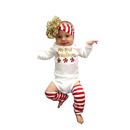 Tonwalk Baby Mädchen (0-24 Monate) Bekleidungsset weiß weiß Gr. 6 Monate, weiß (Halter Print Top Petite)
