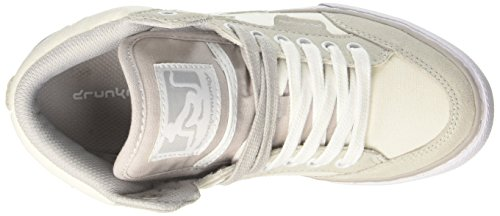 DrunknMunky Boston Classic, Chaussures de Tennis femme Bianco (White/Grey)