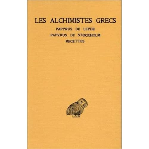 ALCHIMISTES GRECS T1