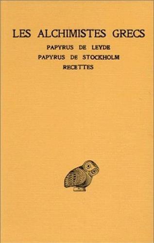 ALCHIMISTES GRECS T1 par Collectif