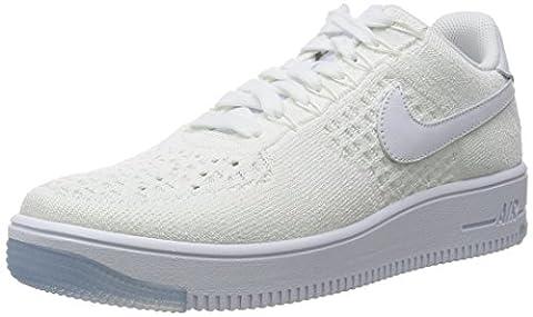 Nike Men's Af1 Ultra Flyknit Low Basketball Shoes, Blanco (White