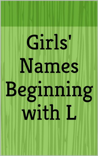Girls Names Beginning With L Letter Series Ebook Haley March
