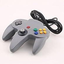 Althemax® Mango N64 Gris Largo control Game Controller Remote Pad Joystick Ajuste para 64 Sistema de Nintendo