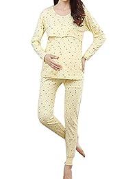 Samber Pijamas Mujer Embarazada Primavera Pijamas Baratas de Puro Algodón para Primavera Verano y Otoño Ropa de Dormitorio…