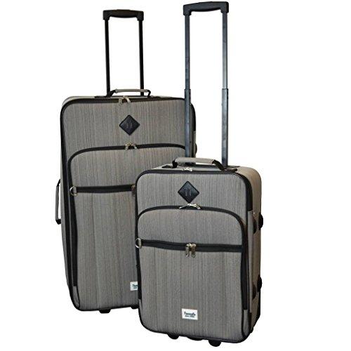 Travelz Hipster Reisegepäck Kofferset 2-teilig Trolleyset Koffer Grau 38 Liter und