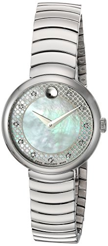 Movado Women's Analogue Swiss-Quartz Watch with Stainless-Steel Strap 0607044