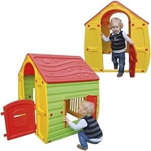maison cabane en plastique pour enfant jeu jouet exterieur portique eveil jeux et jouets. Black Bedroom Furniture Sets. Home Design Ideas