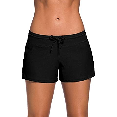 cross1946 Sexy Women's Sailed Briefs Swimsuit Tankini Side Split Plus Size Bottom Board Shorts Waistband Hot 2XL