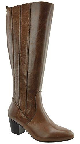 JJ Footwear, Bottes pour Femme Cognac Cow Nappa