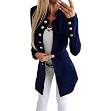 7f9a7075695d Tomwell Femme Blazer Automne Causal Double Breasted Simple Boucle OL à Manches  Longues Veste Blazer Slim