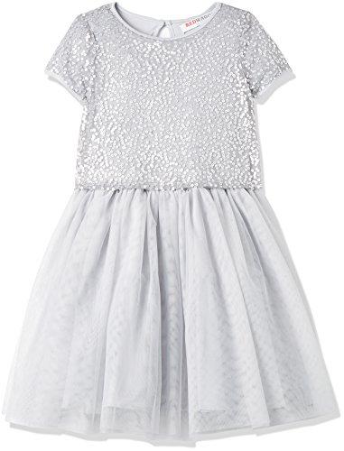 (RED WAGON Mädchen Pailletten-Kleid, Silber (Silver), 104 (Herstellergröße: 4 Jahre))