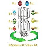 Tassimo Kapselhalter für 64 Kapseln 2 Schächte Neu passend auch für die grossen Milchkapseln nicht nur 3 Sorten sondern bis zu 8 Sorten griffbereit