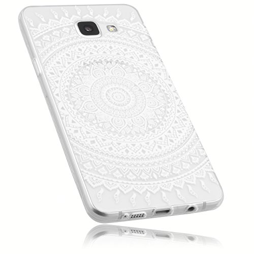 mumbi UltraSlim Hülle für Samsung Galaxy A5 (2016) Schutzhülle transparent im Mandala Design (Ultra Slim - 0.55 mm)