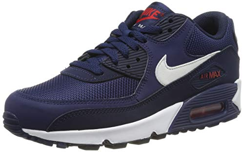 Nike Men's Air Max '90 Essential Shoe, Scarpe da Ginnastica Uomo, Multicolore (Midnight Navy/White/University Red 403) 40 EU