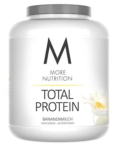More Nutrition Total Protein - Whey & Casein Zur Optimalen Proteinsynthese 1 x 1500 g (Bananenmilch) -